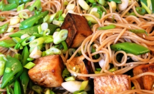 Asian noodle salad with oven roasted tofu kosher recipes forumfinder Choice Image