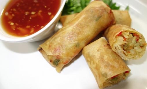 Vegetarian fried spring rolls kosher recipes vegetarian fried spring rolls forumfinder Images