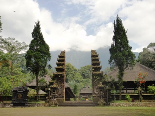 Bali - shrine to mountain